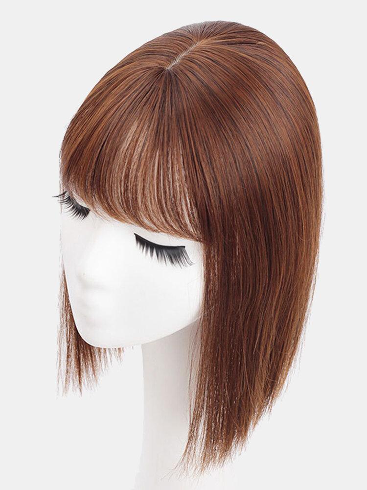 4 Colors Wig Replacement Block Fluffy Chemical Fiber Air Bangs Hair Extensions