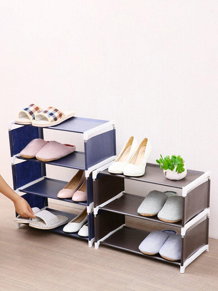 Mehrschichtiger zusammengebauter Schuhregal Einfarbiger Vlies-Aufbewahrungsregal