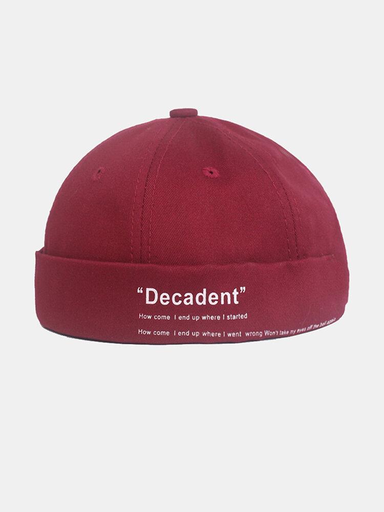 Men And Women Retro Cuffed Solid Color Hat Skull Cap Brimless Hats