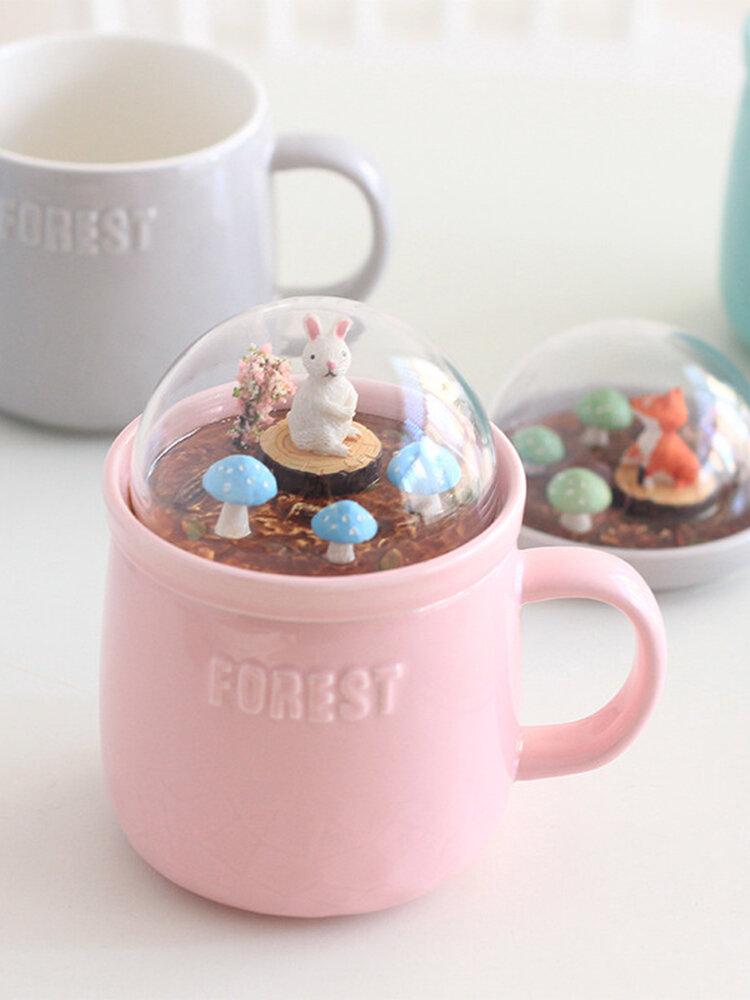 Lovely Cute Micro Landscape Ceramic Cup Creative Christmas Gift Ceramic Coffee Mug