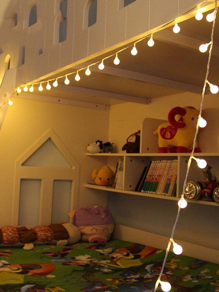 वेडिंग पार्टी क्रिसमस होम सजावट के लिए 10 मीटर गर्म सफेद 100LED गेंद परी स्ट्रिंग लाइट