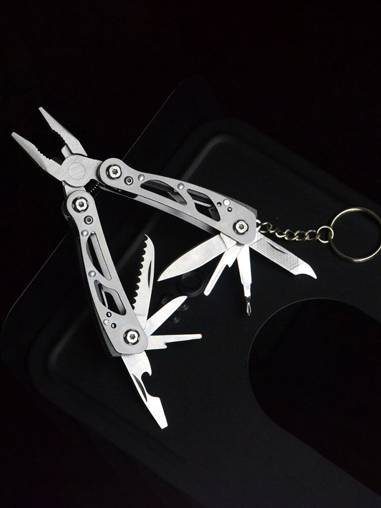 EDC Multifunction Pliers Cable Stripper Folding Stainless Steel Screwdriver Saw Camping Outdoors Tools Repair Multitool Knife Pliers