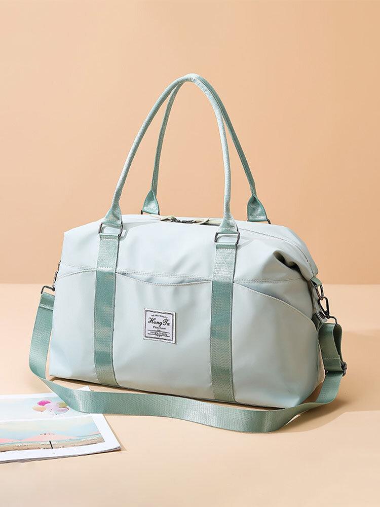 Reisetasche Sporttasche Sporttasche Schulter Weekender Overnight Bag für Damen mit Nasstasche und Trolley