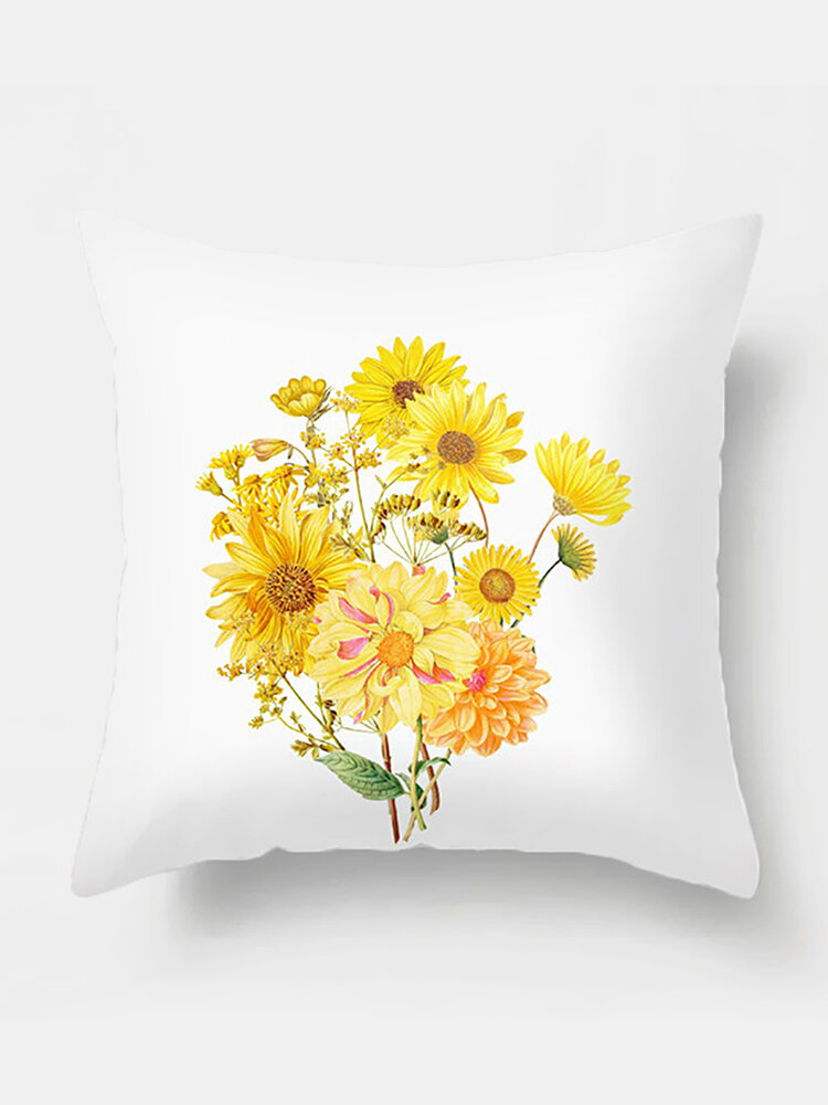 1PC Sunflowers Printing Pillowcase Home Decor Sofa Living Room Car Throw Cushion Cover