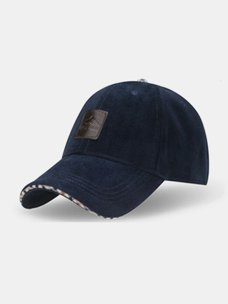 Mens Classic Style Warm Solid Baseball Hat Outdoor Casual Snapback Caps