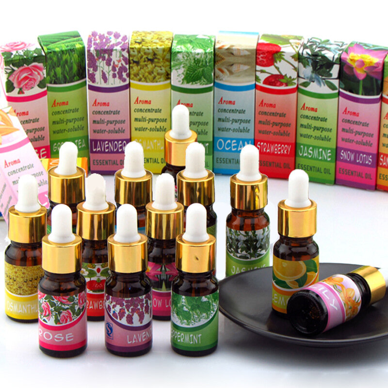 Dropper Olio Essenziale Olio Solubile Aromaterapia Lavanda Humidifier Indoor 12 Tipi Di Frangrance