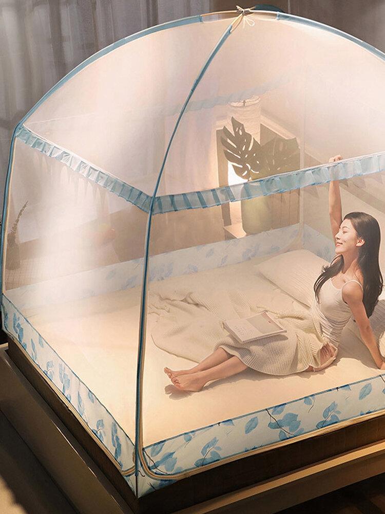 Moustiquaire à trois portes pour lit adulte Portable anti-moustique moustiquaire tente filet en maille