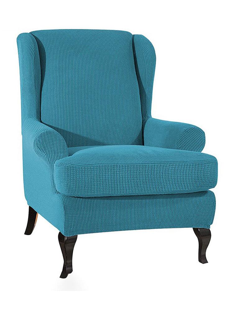 <US Instock>Elastic Fibre Armchair Wingback Recliner Cover Stretch Furniture SlipCover Sofa Protector