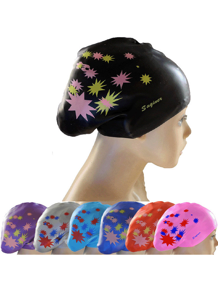 Silicone_Printing_MultiColor_Waterproof_Long_Hair_Swimming_Cap