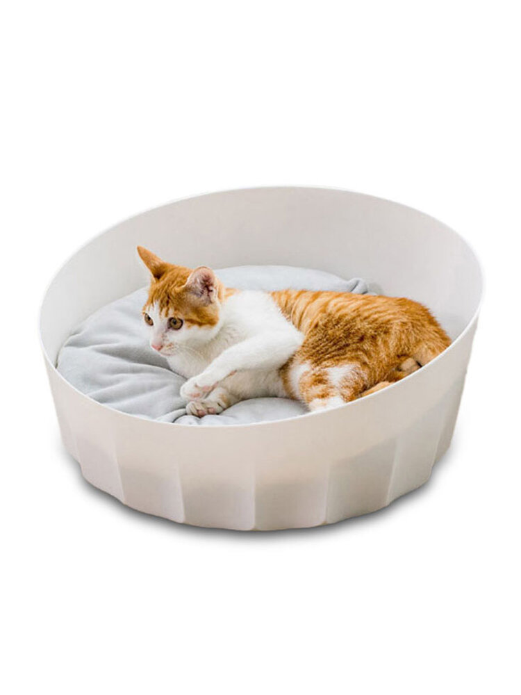 Jordan&Judy White Round Pet Cat Nest Sleeping House Bed Washable Soft Material From Xiaomi Youpin