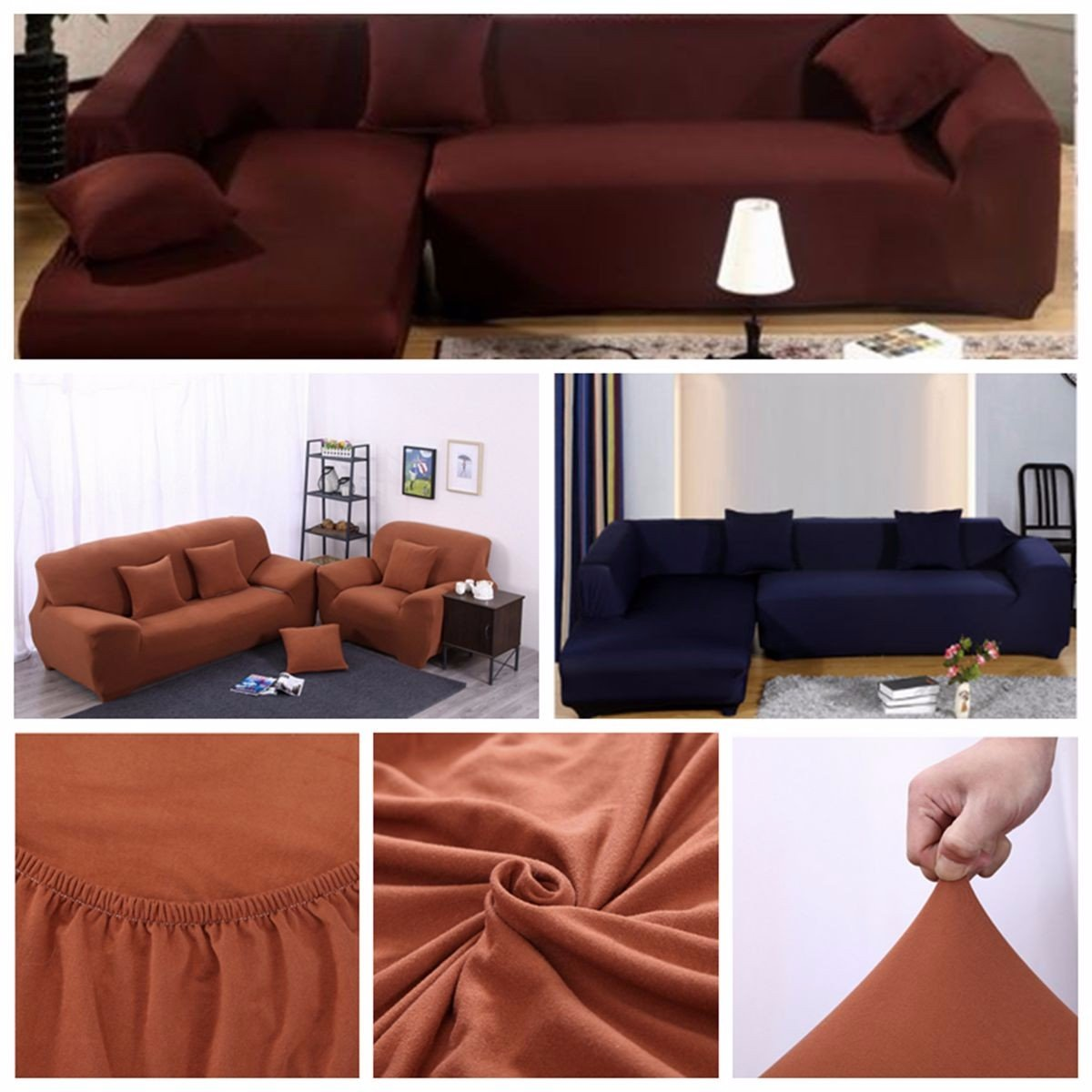 Terrific L Shape 2 3 Seats Stretch Elastic Fabric Sofa Cover Pet Dog Sectional Slipcover Furniture Protector Download Free Architecture Designs Rallybritishbridgeorg