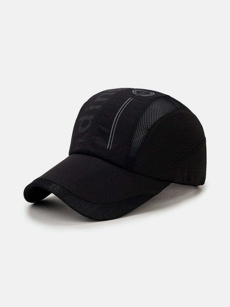 Mens Summer Quick Dry Baseball Cap Breathable Mesh Visor Cap Cool Outdoor Sports Cap