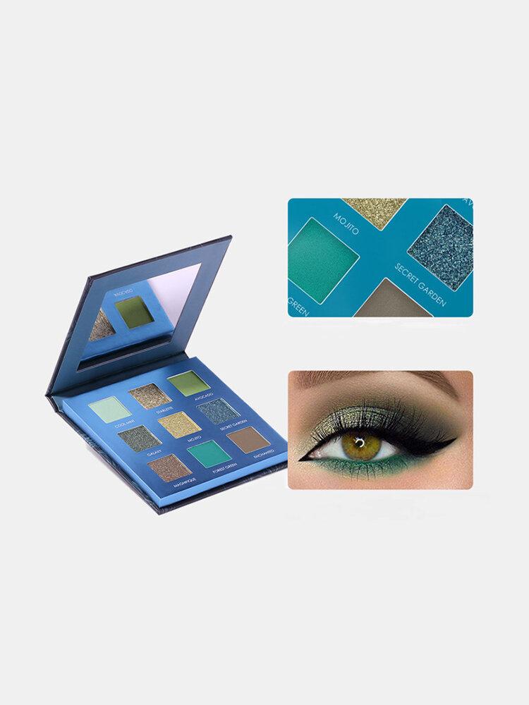 9 Colors Avocado Eyeshadow Palette Matte Glitter Waterproof Eye Makeup