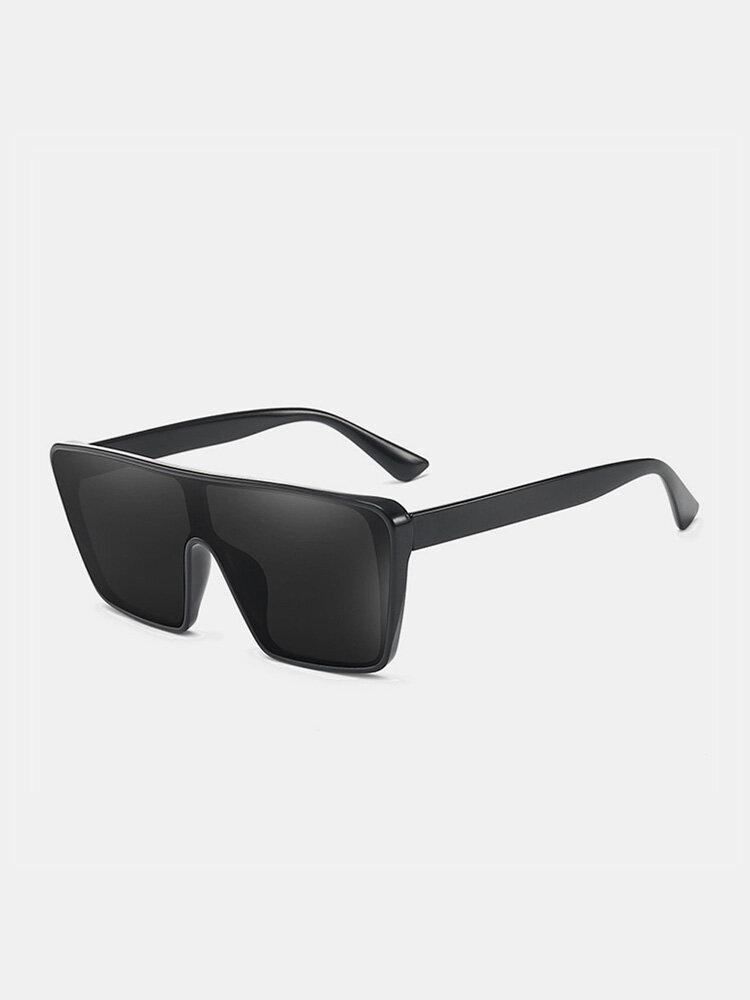 Unisex PC Full Square Frame One-piece Goggles UV Protection Oversized Fashion Sunglasses