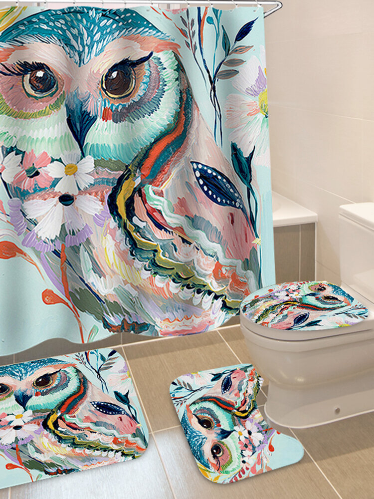 Animals Style Bathroom Curtain Printed Shower Curtains Bath Products Bathroom Decor with Hooks Waterproof Polyester Cloth