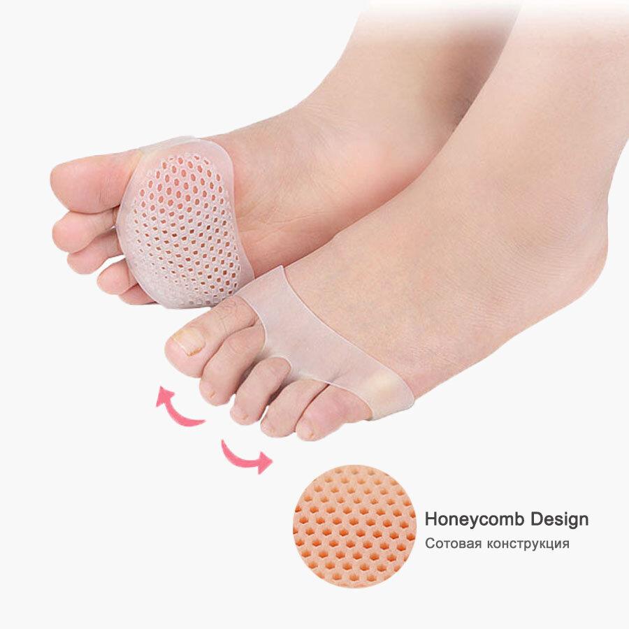 Silica Gel Wabenvorfußpolster Half Yard Einlegesohle Schmerzlinderung Fußpflege-Tools