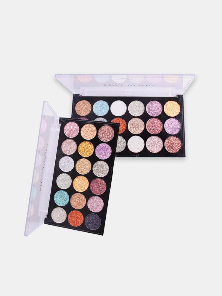 Paleta de sombras de ojos con purpurina Paleta de sombras de ojos con brillo de 18 colores Sombra de ojos con resaltador de larga duración