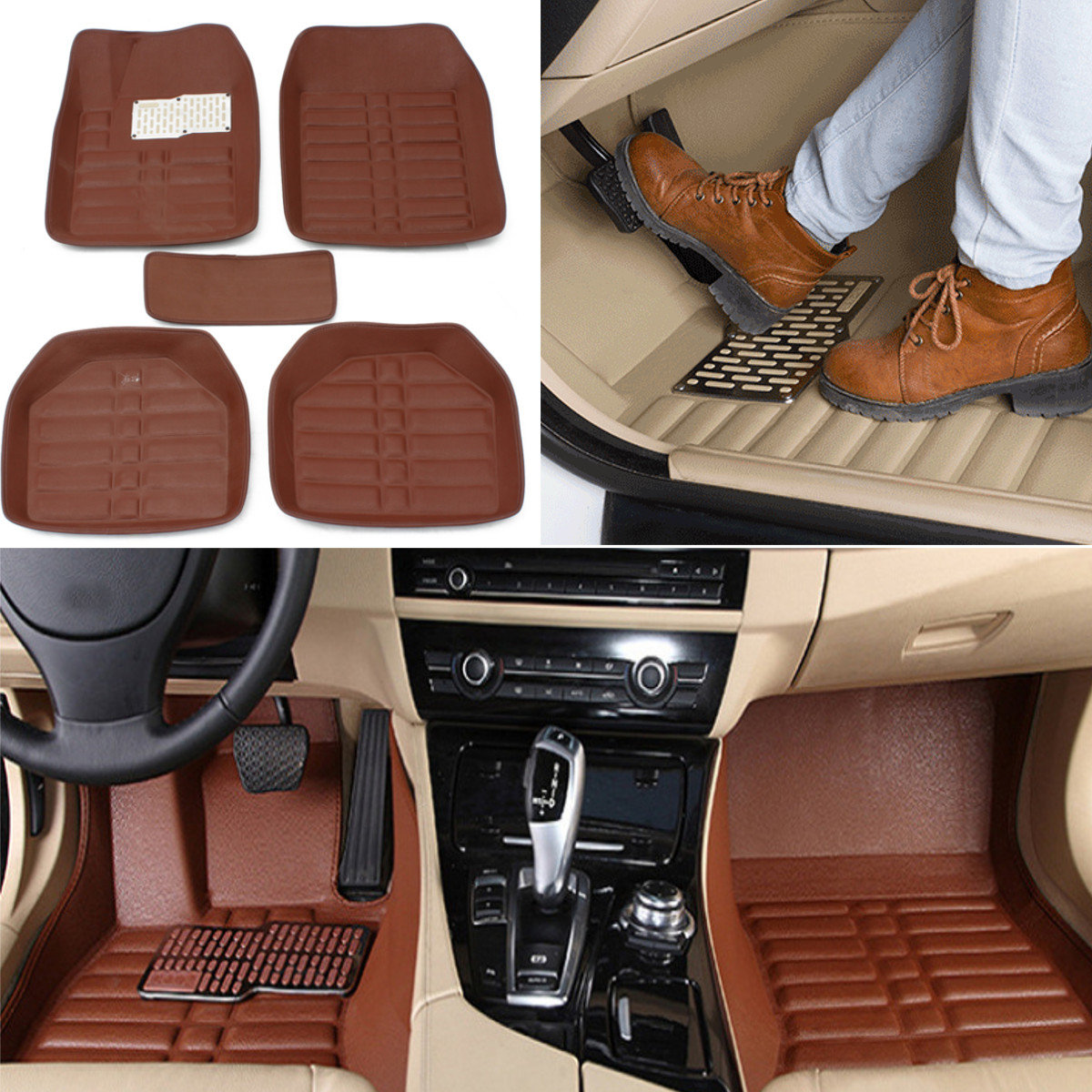 Floor Mats Front Rear Carpet Auto Mat