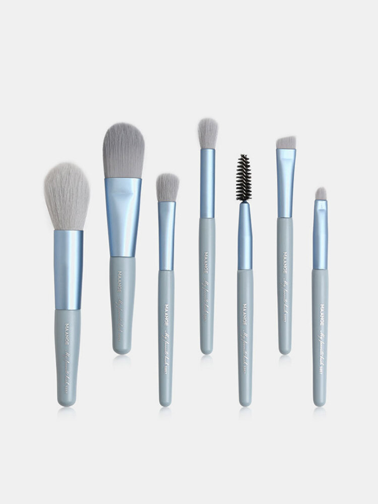 7 Pcs Mini Makeup Brushes Set Portable Eye Shadow Loose Powder Brush Beauty Tools