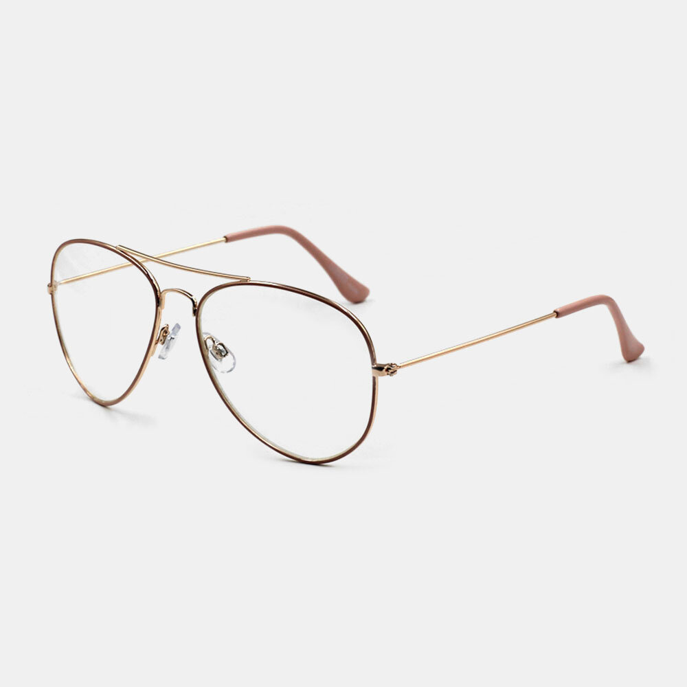 Women Fashion Casual Full Frame Metal Narrow Rim Plus Size Glasses