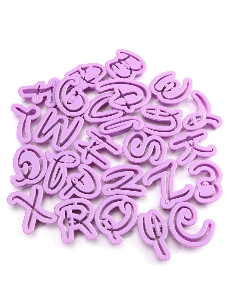 वर्णमाला पत्र कुकीज़ Embosser कटर केक सजा कलाकंद उपकरण