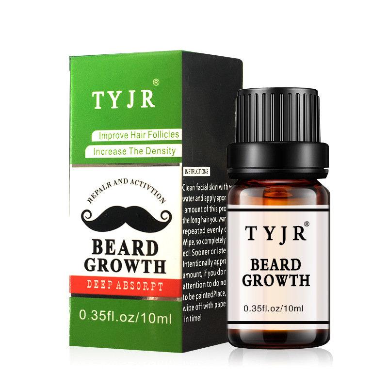 10ml Men Beard Growth Oil Nursing Moisturizing Improve Frizz Beard Eyelashes Nourishing Fluid