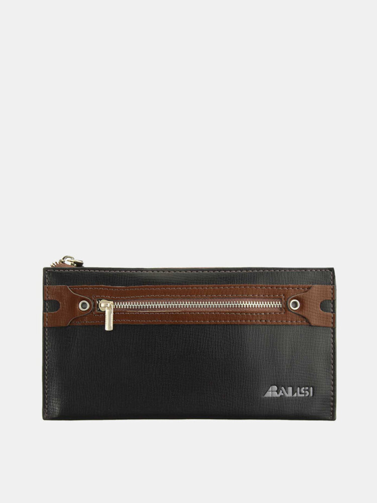 Men Business Vintage Leisure Long Zipper Wallet Cards Cash Coins Purse
