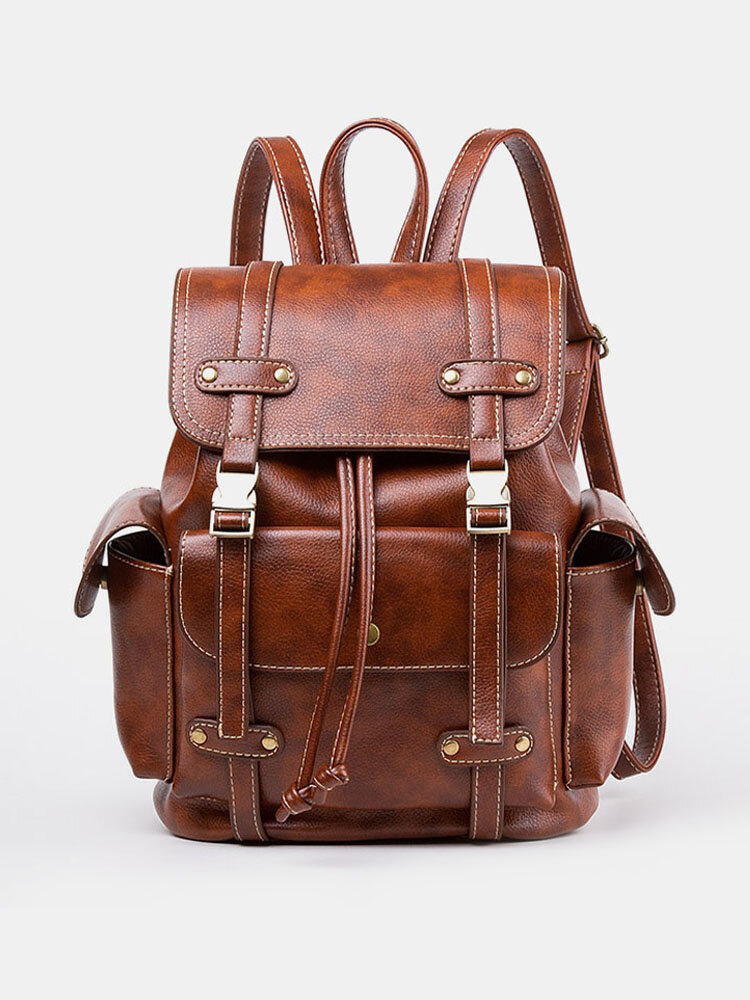 Men Retro Outdoor Large Capacity Backpack