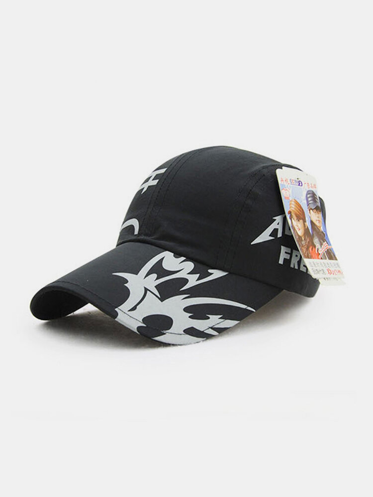 Men Women Cotton Flower Print Quick-Drying Baseball Cap Outdoor Sport Sunshade Hat Adjuatable