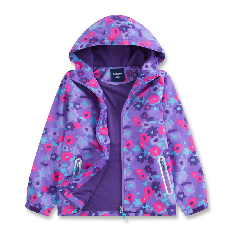 8af6a8d56 Waterproof Floral Girls Trench Coat Windbreaker Raincoat For 4Y-13Y On Sale  - NewChic