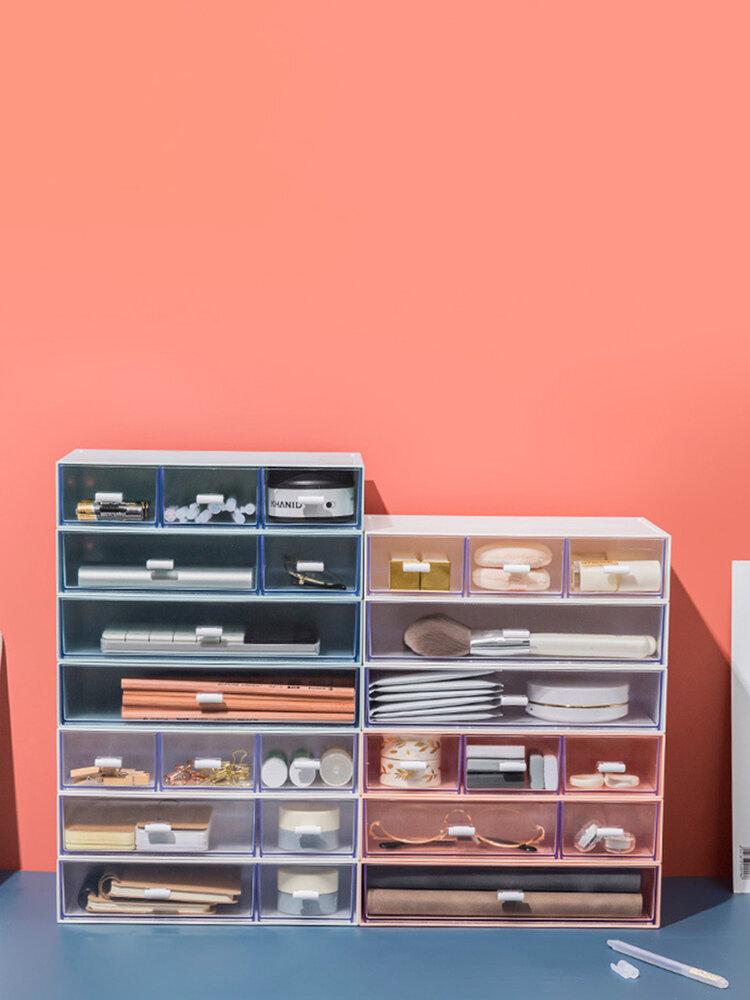 デスクトップアーティファクト収納ボックスオフィス破片引き出し化粧品ラックプラスチック収納ボックス