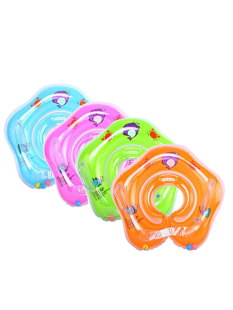 Cercle de flotteur infantile de sécurité de Tube d'anneau de cou d'accessoires de bébé de natation pour l'eau gonflable de flamant rose gonflable de bain