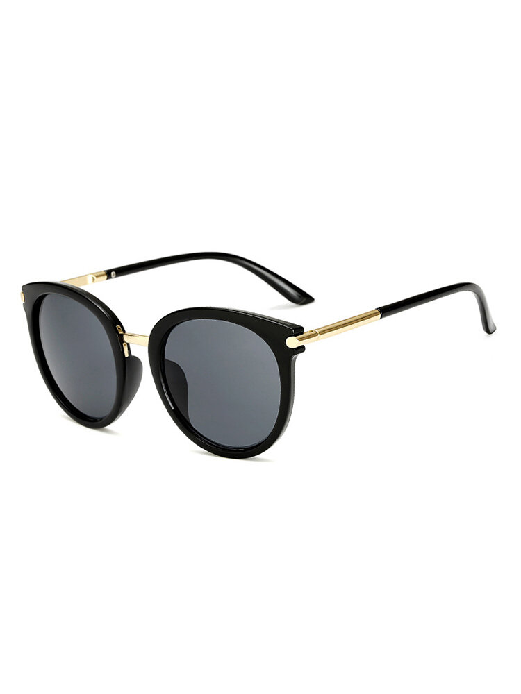Woman Metal Frame Anti-UV Outdoor Glasses High Definition Sunglasses