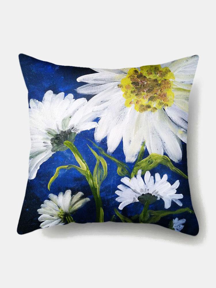 1PC Daisy Flowers Colorful Printing Pillowcase Home Decor Sofa Living Room Car Throw Cushion Cover