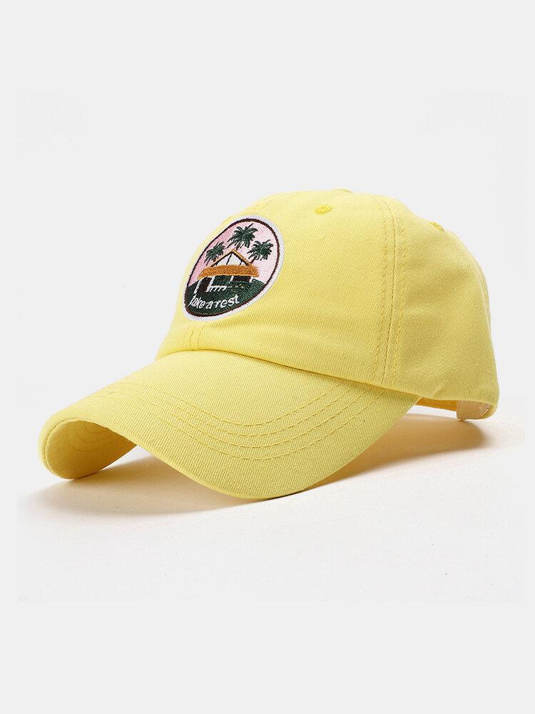 Unisex Cotton Embroidery Pattern Curve Brim Sunshade Fashion Baseball Hat