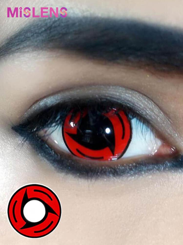 2 Pcs Sharingan Bladed Non-prescription Yearly Colored Contact Lenses