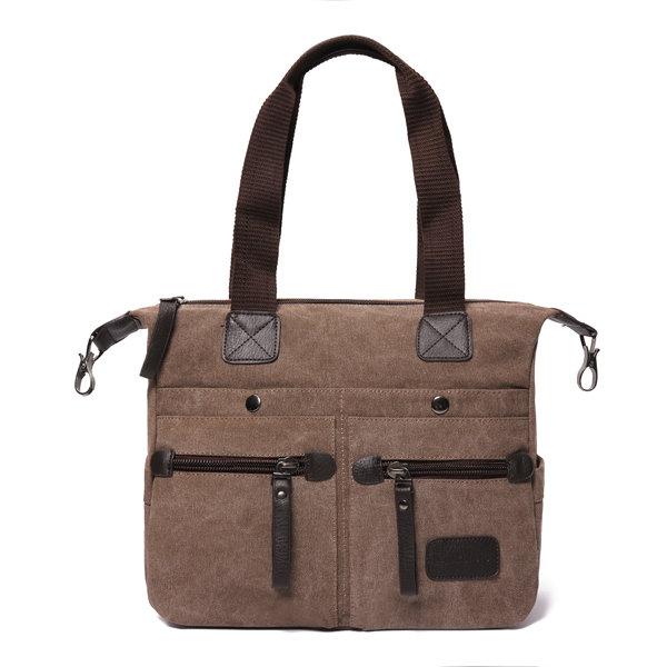 Ekphero Men Women Casual Canvas Multi-Pocket Portable Handbags Pillow  Crossbody Bag