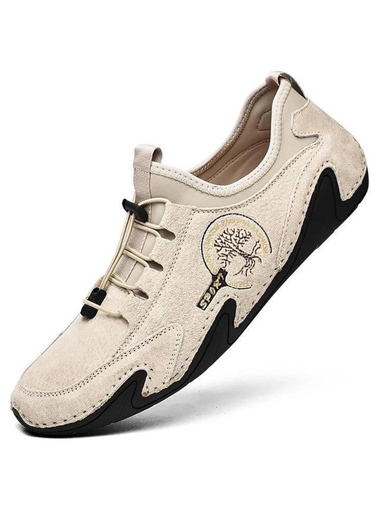 Menico Herren handgefertigte Lederschuhe Soft Driving Loafers Schuhe