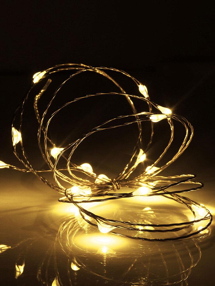 2M 20 LED Copper Wire Fairy String Light USB Powered Xmas Party Home Decor  DC5V