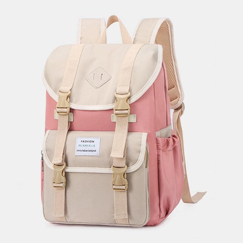 Femmes grande capacité Patchwork anti-vol étanche 15,6 pouces sacs de voyage pour ordinateur portable sac à dos
