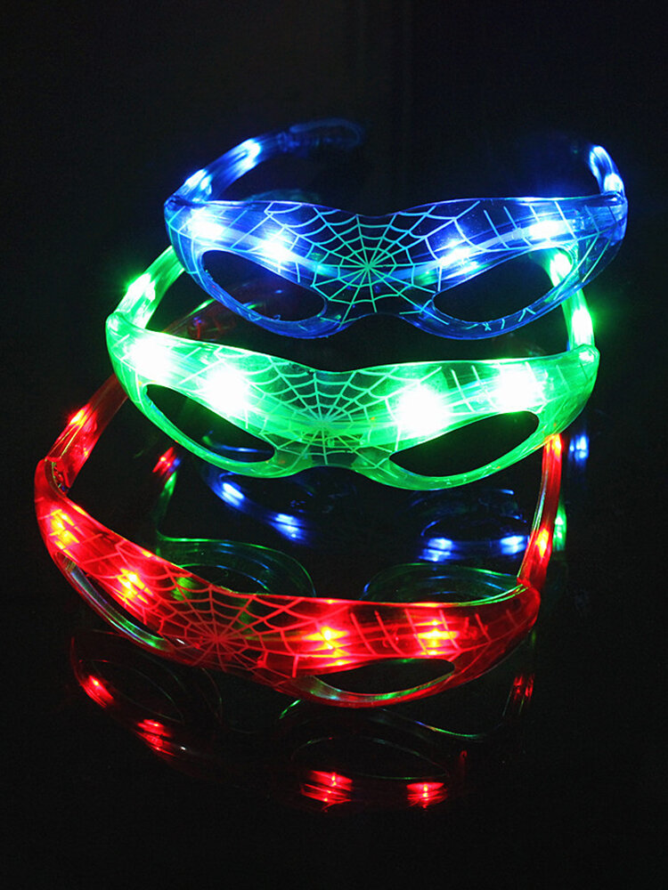 LED Spider Style Flashing LED Glasses Luminous Party Colorful Glowing Classic Toys