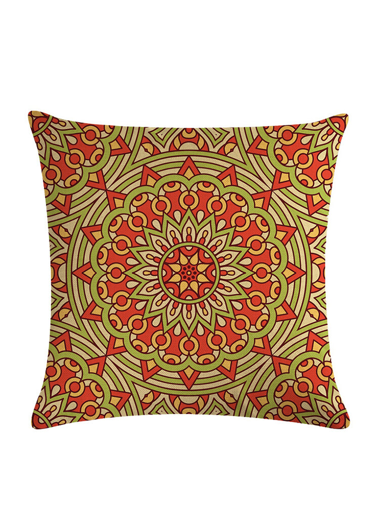 Bohemian Pillowcase Creative Printed Linen Cotton Cushion Cover Home Sofa Decor Throw Pillow Cover