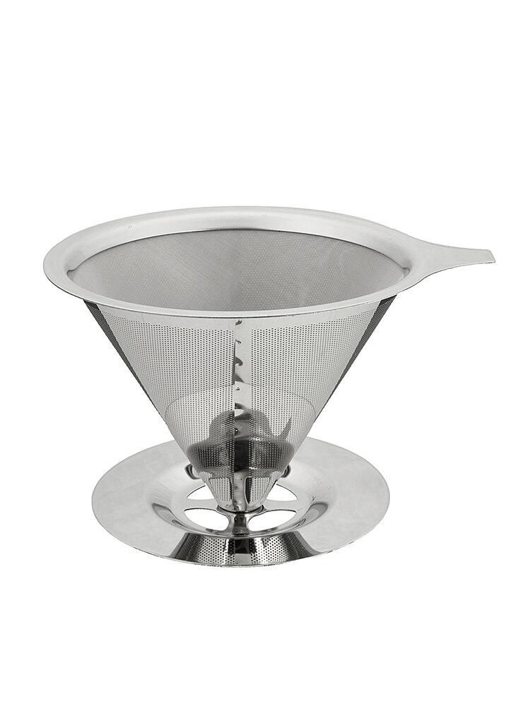Капельница для кофе из нержавеющей стали Двухслойный сетчатый фильтр Кухня безбумажная Набор