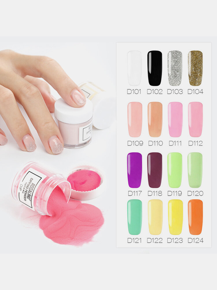 34 Colors Dip Powder Gradient French Pigment Chrome Dipping Manicure Glitter Powder