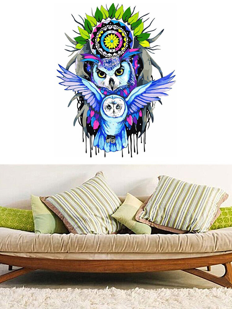 Paint by Number Kit Colorful Owl Pop Art Painting Bedroom Home Wall Decor