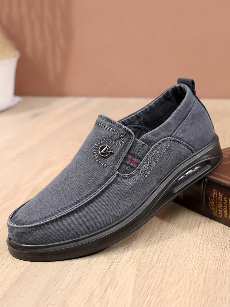 Men Cushioned Sole Round Toe Non Slip Comfy Old Peking Shoes