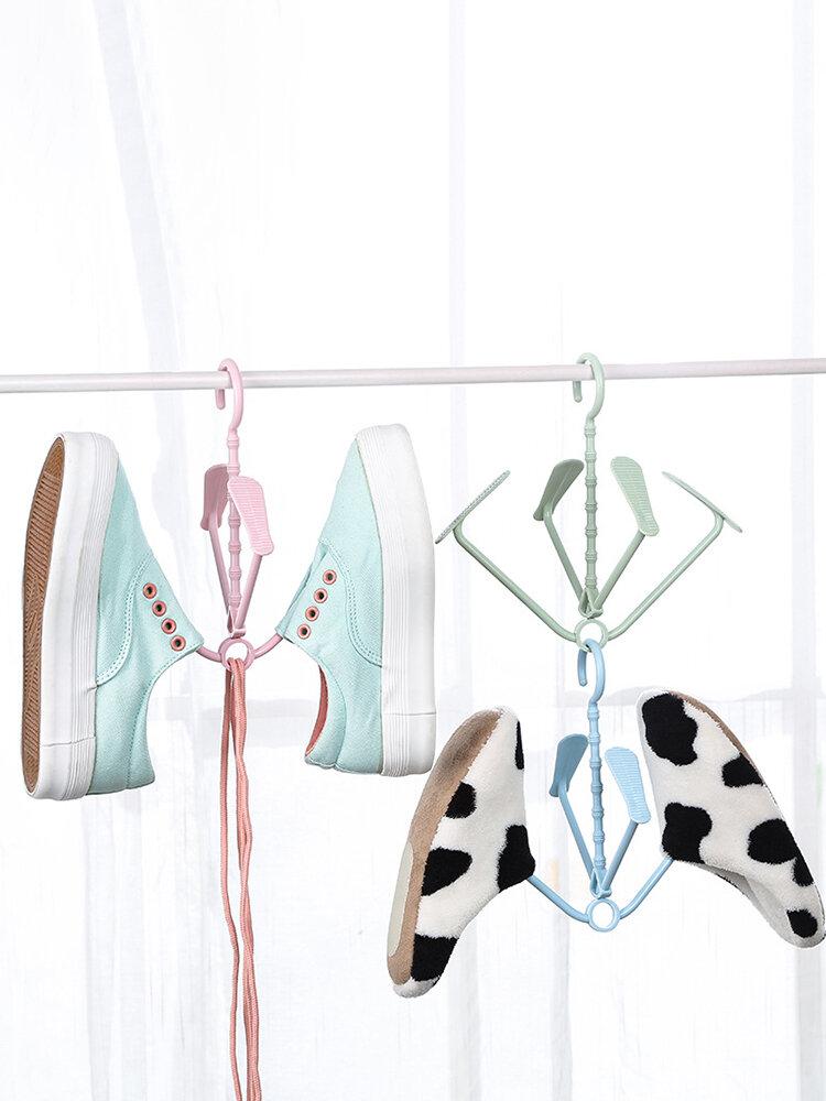 أحذية الشرفة أحذية معلقة الشماعات تجفيف خطاف رف الأحذية