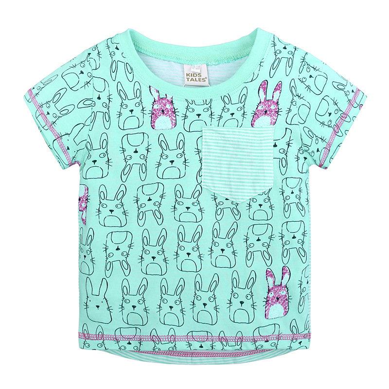 Lapin Imprimer Toddlers Fille Garçons Manches Courtes T-shirt Graphique Pour 1A-9Y