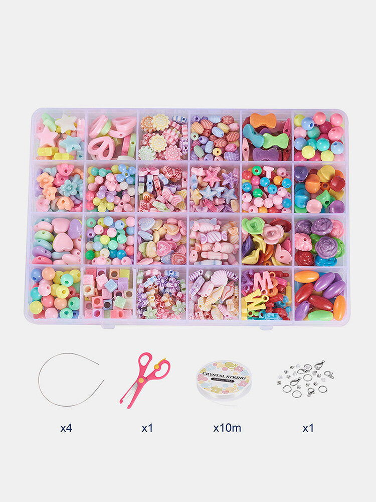 Bracelet Necklace Jewelry DIY Production Material Color Beads Lobster Buckle Accessories Set