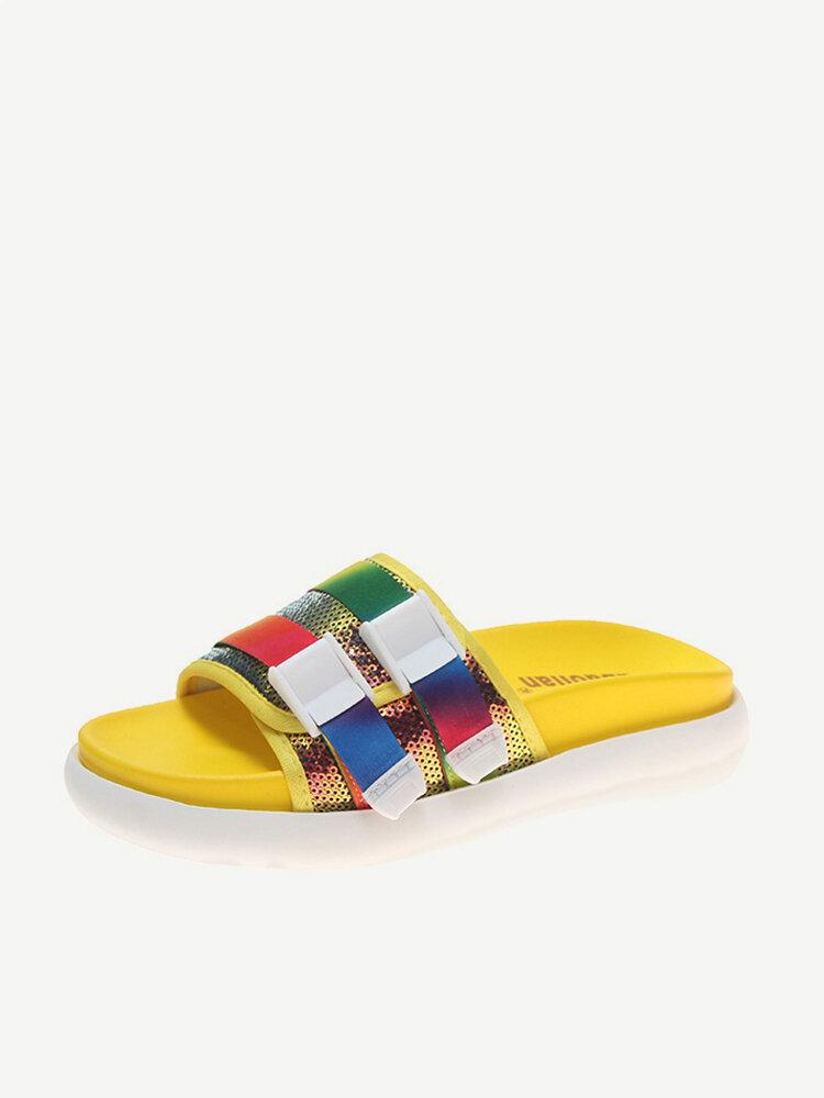 Flat-bottomed Slippers Season New Comfortable Wild Sponge Cake Waterproof Platform Female Sandals And Slippers